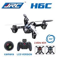 Wholesale Headless CF Mode JJRC H6C G CH Quadcopter RTF with MP HD Camera LCD Transmitter VS Hubsan x4 H107C X5C Drone piece