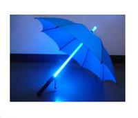 Wholesale Umbrellas Blade - Wholesale-New Super Cool Star Wars Blade Runner LED Lightsaber Light Up Rain Sun Umbrella