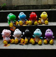 "Wholesale Mario Plush For Free - Free Shipping New 9 Colours Super Mario Bros Plush Stuffed Soft Toy - 7"" Yoshi Good For Gift"