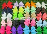 Wholesale Pinwheel Bows - 10%off 160pcs 3 inch Grosgrain Ribbon Pinwheel Hair Bows Baby Girls' Wholesale Hair Bows WITHOUT Alligator Clips