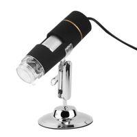endoscópio video usb venda por atacado-Atacado-2016 Prático Novo 2MP USB 3.0 8 LED Digital Microscope Lupa Endoscópio 50-500X Camera