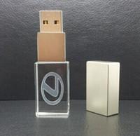 Wholesale Crystal Usb Flash Drives - NEW Hot Crystal U Disk 128GB USB Flash Drive Pen Drive Flash Memory 80pcs