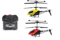 controle remoto plano rc venda por atacado-Linha Controle Remoto Controle Remoto Avião Drone Quadrotor Drones câmera HD Helicópteros RC Mini 2.5CH E LED Light Toy Boy 2.4GH RC Airplane