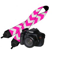Wholesale Blanks Ready in Stock Chevron Camera Straps Canvas Material Good Quality to US DOM103003