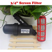 Wholesale Y Type Filter - Irrigation filter 3 4 inch 120mesh 150m 200m Y Type Screen Filter Garden agriculture Greenhouse Water filter screen filter jf001