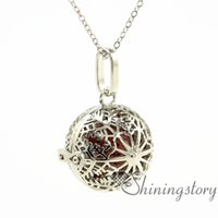 Wholesale make your own necklace for sale - Group buy snowflake ball openwork aromatherapy necklace aromatherapy jewelry make your own oil diffuser aromatherapy necklace diffuser penda