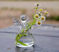 ingrosso vaso-Regalo San Valentino Angelo vaso fatto a mano vaso di fiore della decorazione della casa di moda per le vacanze regalo di compleanno regalo