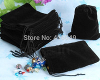 Wholesale cm Black chinese Christmas Wedding voile gift bag Velvet Bags Jewlery packing Gift Pouches