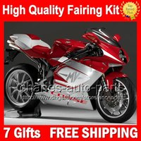 7gifts + Carrozzeria per MV Agusta F4 05 06 Red argento 750 1000R 312 1078 1 + 1 MA 2005 2006 4CL97 rosso argentee R312 750S 1000 R Kit 05-06 Carena