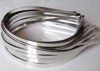 Wholesale Wholesale Metal Headband Blanks - 5mm Blank Plain Metal Hairband Decorative Metal Headband for Girls Hair Band Diy Craft Hair Hoop Solid Headwear