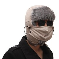 Wholesale Earflap Beanie Women - S5Q Mens Ski Hat Mask Trooper Earflap Woman Unisex Winter Trapper Aviator Warm AAAEGJ