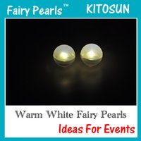 Wholesale Pink Floating Pearls - Led Fairy Pearls!!!180pcs  Lot 12 Colors Battery Powered Led Berries Waterproof Floating Led Party Lights