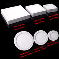 AC85-265V led panel lights round square Surface mounted indoor lamps SMD2835 6W 12W 18W 24W High popularity Lighting
