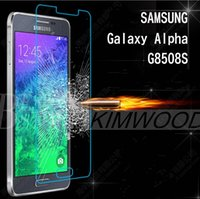 Wholesale Tempered Glass Alpha - Tempered Glass Screen Protector Samsung Galaxy J1 J2 J5 J7 Alpha G8508 0.2MM 2.5D Explosion Proof Retail Package