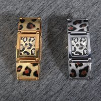 Wholesale Leopard Gift Boxes - Fashion Luxury Rose gold Women Watch Leopard Stainless Steel Sexy Lady Watch High Quality Famous Brand Steel Bracelet Chain Free Box Gift