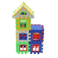 Wholesale Kid Children Letter House Building Blocks Toy DIY Craft Gift Pieces Creative