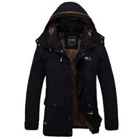 Wholesale Plus Size Outerwear Outdoor - Fall-Men Jacket Outerwear Zipper Male Casual Coat Autumn Clothing Solid Thick Outdoor Army Cotton Jackets Plus size XXXL 4XL