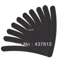 kunst schwarzes sandpapier großhandel-Großhandel 30pcs große lange professionelle Crescent Art Grit schwarz Schleifpapier Datei Nagelfeilen für Nail Art Tipps Maniküre