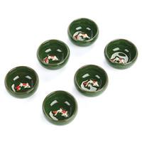 Wholesale Tea Fishing Cup - crackle-glaze ceramic tea cup fish teacup porcleain ceramic tea sets drinkware