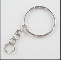 Wholesale Diy Metal Car - Split Key 4 Key Rings Opening KeyChains Vintage Silvers Plated Charms For Keys Car DIY Jewelry Findings Couple Accessories 100pcs Z669