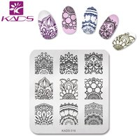 KADS 2016 Pretty Charming Flowers Design Nail Stamping Print Plates Nail Art Template DIY Beauty Nail Stencil Инструменты для маникюра