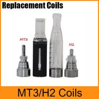 Wholesale gs h2 clearomizer replacement coils - Universal Coils MT3 Coils H2 Coils For MT3 GS H2 Clearomizer Atomizer Detachable Replacement Coil Free Shipping
