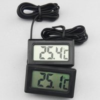 Wholesale Water Tank Digital Thermometer - New Aquarium LCD Digital Thermometer Fish Tank Water Free Shipping white or Black TMP-10