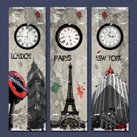 Wholesale Sell Decorative Wall Paint - 3 Piec Hot Sell Modern Wall Painting London Paris New York City Landscape Home Decorative Art Picture Paint on Canvas Pure hand-