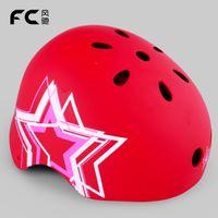 Wholesale Helmet Red - Wholesale-Fc helmet pulley skateboard hip-hop bicycle helmet red