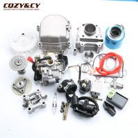Wholesale Rebuild Cylinder Heads - 39mm 50cc GY6 Scooter Engine Rebuild Kit Cylinder Kit Engine Head PD18 Carburetor CDI Fan 38mm Modified Air Filter 139QMB Chines