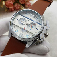 Wholesale Plastic Strap Price - Hot Selling Best Price Men Luxury Watch DZ4361 DZ4365 DZ4386 White and Black Dial with Black Leather Strap Analog Display Quartz Wristwatch