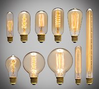 Wholesale Industrial Style Lamps - 60W Filament Light classical Bulbs Vintage bulb Retro Industrial Style edison Lamp E27 Antique bulbs Fashion Incandescent lamps 110V 220V