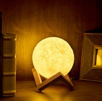 2018 3D Lunar Light LED Lua Night Light Lua Night Touch Lamp Romatic Lights Bedroom Lâmpada de mesa Presentes Creative Party Supply wn305