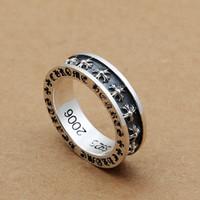 ingrosso mani antiche-Brand new 925 gioielli in argento sterling vintage americano Europa argento antico croci fatto a mano designer banda anelli regalo per le donne degli uomini