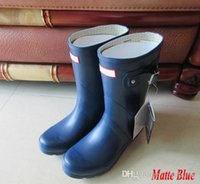 Wholesale Pvc Wellies - Factory Outlets 2017 Hunter Rain Boot Women Wellies Rainboots Ms. Glossy Wellington Rain Boots Wellington Knee Short Boots