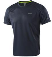 ingrosso pullover sport di marca-T-shirt da uomo di moda di marca Quick Dry T-shirt fitness traspirante Uomo Maglia da running sportiva Maglietta da uomo Slim Fit Running
