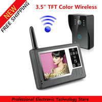 "Wholesale Video Display Systems Tft - 3.5"" TFT Color Display Wireless Video Intercom Doorbell Door Phone Intercom System"