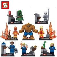 SY167 Building Blocks 8pcs / set Super Heroes Dr. Doom piedras mágicas Mr. Silver Surfer Fantastic Four Invisible Women Figures