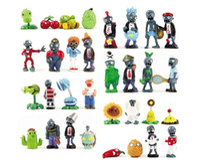 Wholesale Action Figures Display - 32 x Plants vs Zombies PVZ Game Role Toys PVC Action Figure Toys Minifigures Display Toys Decorations