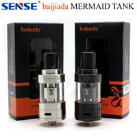 Wholesale Vapor Tank Sense - Original Sense Baijiada Mermaid Sub Ohm Tank 2mL Capacity Stainless Steel Pyrex Glass Bottom Airflow Herakles Plus coils Vapor mods RDA DHL