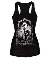 Wholesale Women Fashion Tank Tops Skeleton - FG1509 New Summer Tank Tops 3D skeleton angel print t shirt women Sport Undershirt Sleeveless Shirt Fashion Vest Causal Tops