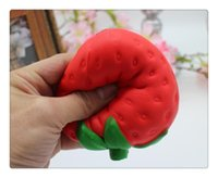 Wholesale educational apple resale online - Strawberry Slow Rising Squishy Toy Kitchen Food Fruit Pretend Play Educational Jumbo Cute Strawberry Squishy Slow Rising Soft Toy