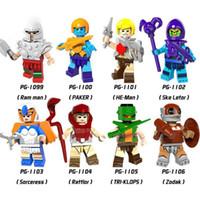 Wholesale Building Bricks Toys - Building Blocks Minifigures Action Bricks HE-Man MASTERS of the Universe Ram Man Paker Ske Letor Rattlor Zodak Kids Toys 8pcs set PG8089