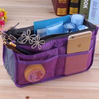 Wholesale Square Mp3 - Makeup Bag Purse Cosmetic MP3 Mp4 Phone Storage Organizer Sundry Bags Cosmetics Bags Multi Two Zipper Bag
