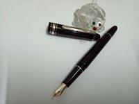 fornecedores de estrelas venda por atacado-Alta qualidade Classique metal e resina clipe de prata 145 Caneta-tinteiro através da fábrica Fornecedores caneta estrela branca embutimento número de série