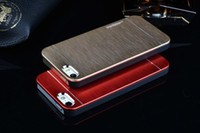 Wholesale S4 Newest - NEWEST Motomo Case for iPhone 6 4.7 5.5 inch I6 Plus 5 5S 4 4S Samsung S3 S4 S5 Luxury Brushed Metal + Hard Rubberized PC Back Skin Cover