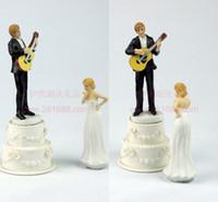 gelin damat süslemeleri toptan satış-Düğün Pastası Topper Düğün SupplyThis gelin ve damat çift paylaşan Düğün Pastası Topper Düğün Olaylar Süslemeleri Düğün Bebekler