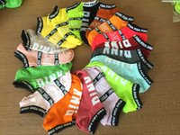 Wholesale Body Art Party - 500pcs Pink Letter Socks Pink Ankle Sock Sports Sock Cotton Hosiery Girls Fashion Sexy Ship Sock Campus Party Socks Wholesale