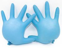 Wholesale Nitrile Gloves Blue - Disposable latex gloves B grade blue nitrile latex gloves Oil gloves Labor insurance gloves