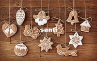 Wholesale Cartoons Polymer Clay - New 11 pcs lot Hanging Ornament Snowflakes Decor Polymer Clay Drop Pendants Christmas Tree Baubles Decoration Enfeites Ornaments Set